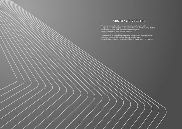 Linhas geométricas para o pano de fundo. Vetor Premium