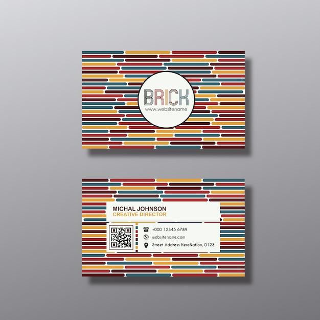 Linhas multicoloridas cartão de visita Vetor grátis