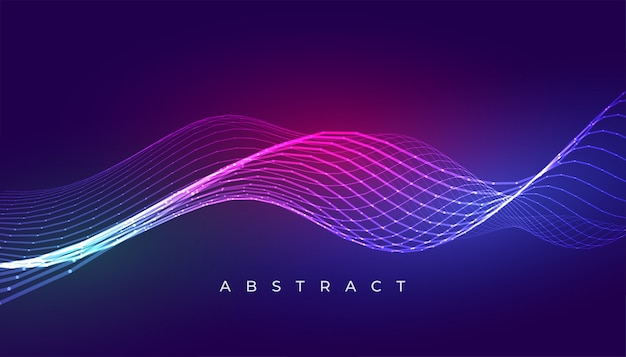Linhas onduladas azuis elegantes abstraem design de fundo Vetor grátis