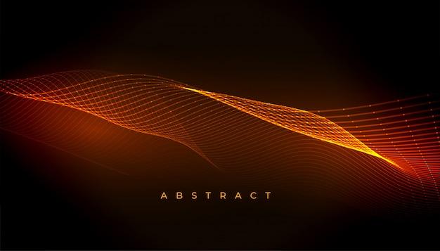 Linhas onduladas brilhantes abstratas fluindo design de plano de fundo Vetor grátis