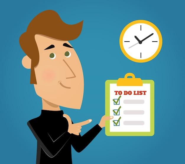 Lista de tarefas concluída Vetor Premium