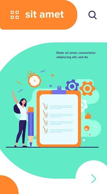 Lista de verificação ou conceitos de pesquisa Vetor grátis