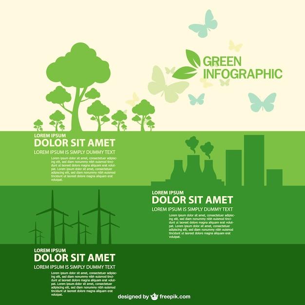 Livre do vetor do estilo infográfico ecologia Vetor grátis