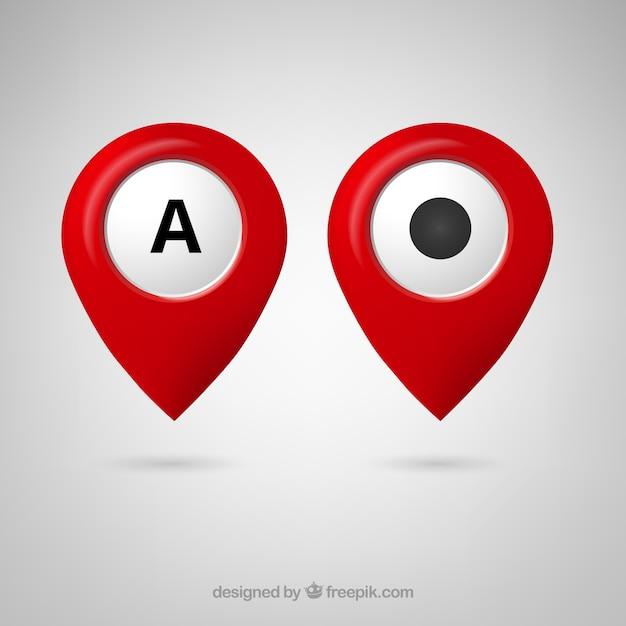 Livre google maps ícone do ponteiro Vetor grátis