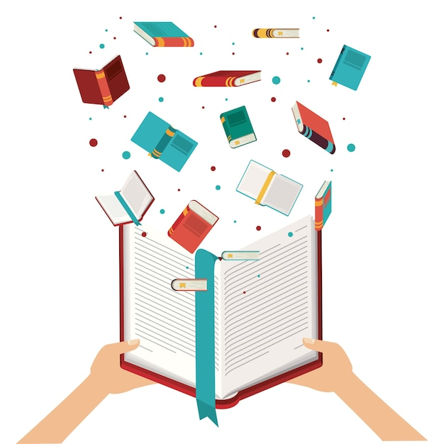 Livro aberto Vetor Premium