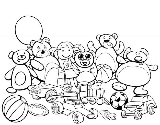 Livro De Colorir Desenhos Animados Para Grupos De