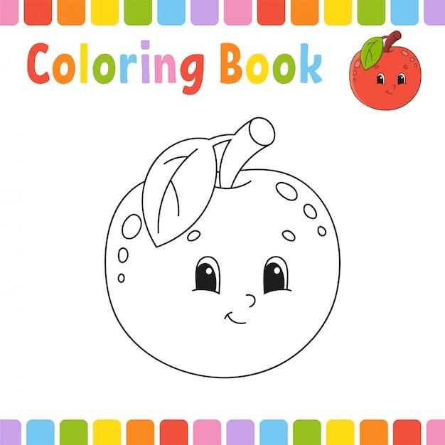 Livro de colorir para crianças. Vetor Premium