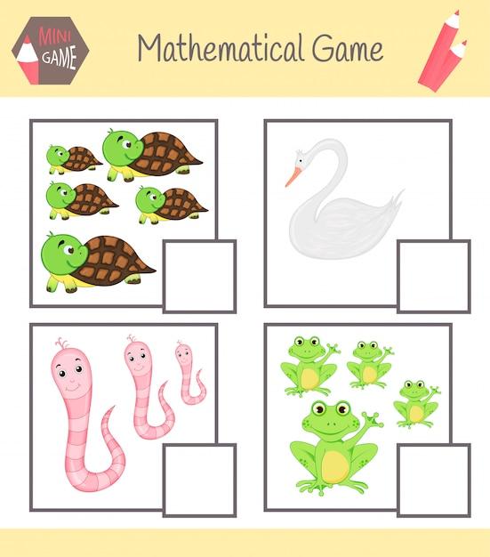 Livro de exercícios de matemática para educação pré-escolar Vetor Premium