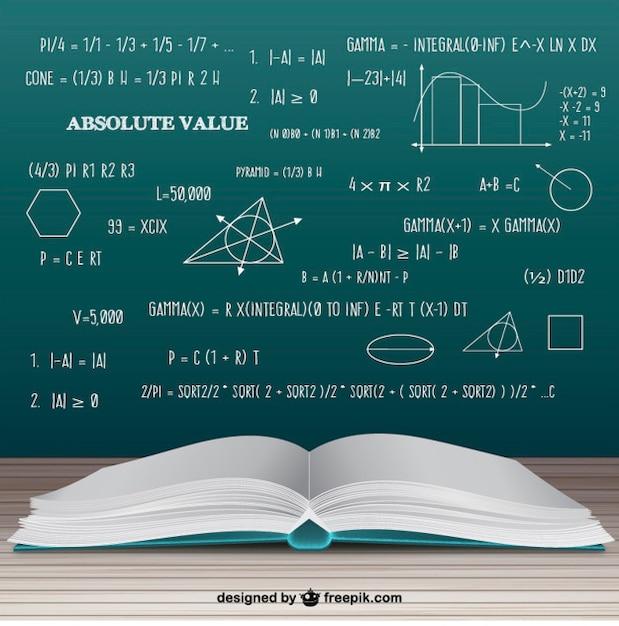 Livro de matemática aberto Vetor grátis