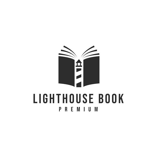 Livro do farol logo_01 Vetor Premium