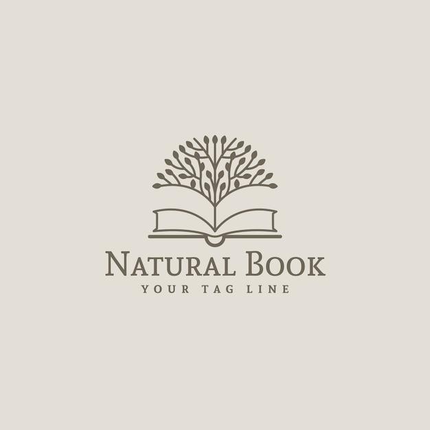 Livro, logotipo, desenho Vetor Premium