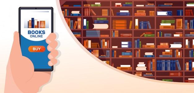 Livros on-line Vetor Premium