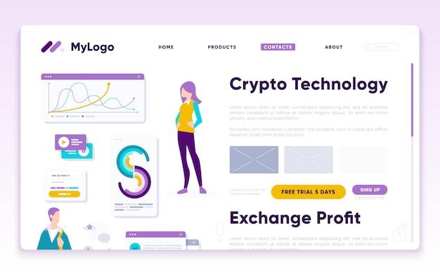 Lmodelo da página final do analista de marketing digital Vetor Premium