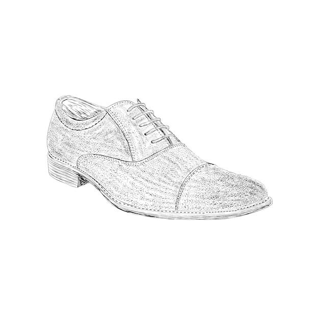 Loafers sapato ilustração na mão desenhada vector Vetor Premium