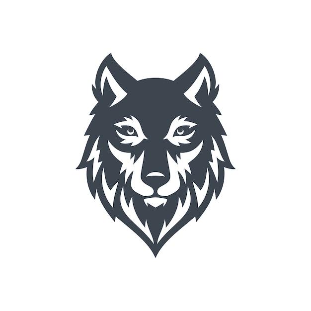 Lobo logo stock vector Vetor Premium
