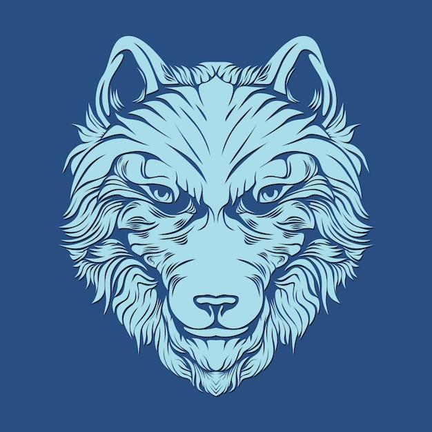 Lobo peludo para decoração Vetor Premium