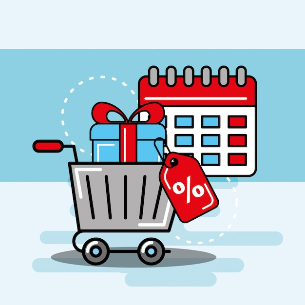 Logística e serviço de entrega Vetor Premium