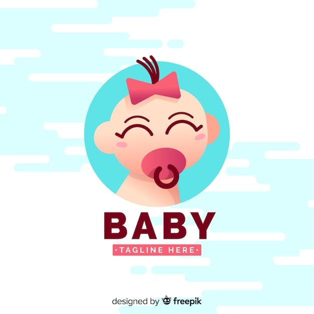 Logo bebê Vetor grátis