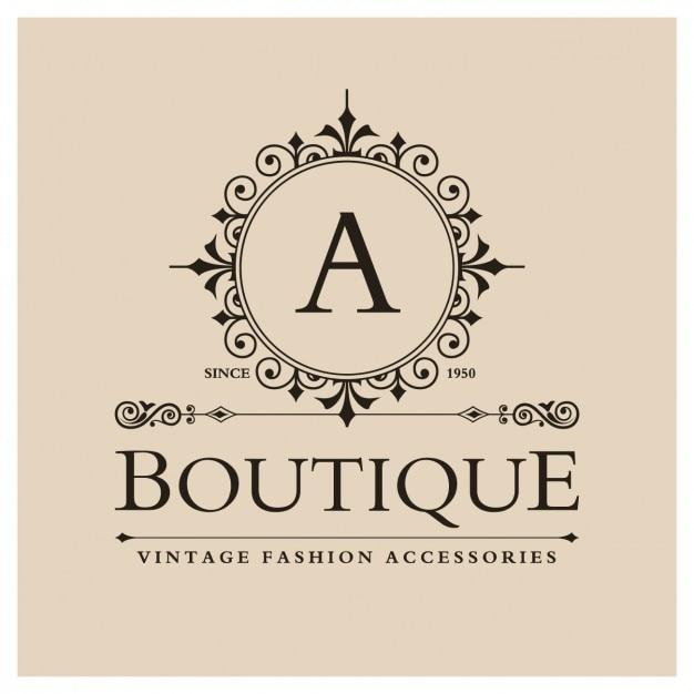 Logo boutique vintage Vetor grátis