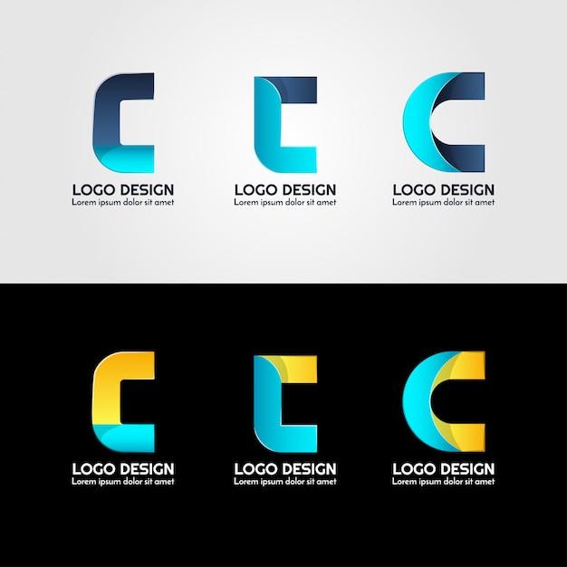 Logo criativo da carta Vetor Premium