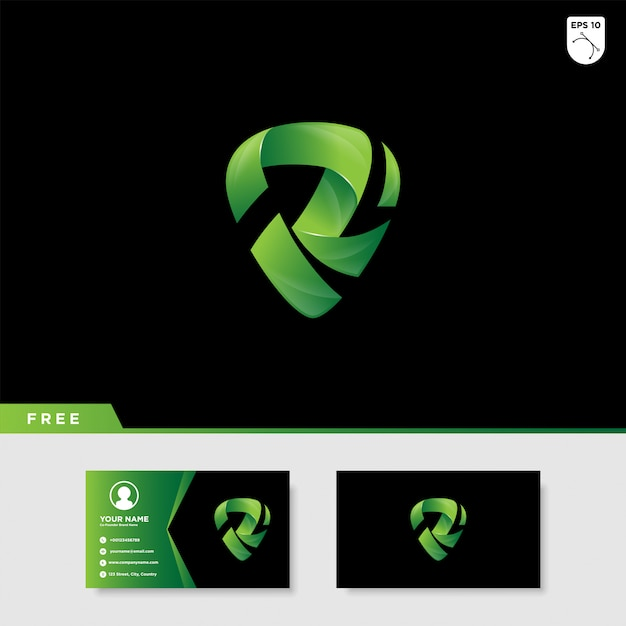 Logo criativo da letra r Vetor Premium