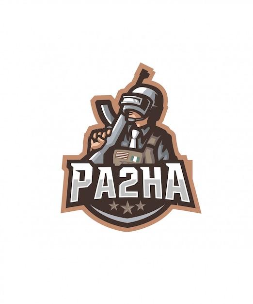 Logo de esportes pa2ha Vetor Premium
