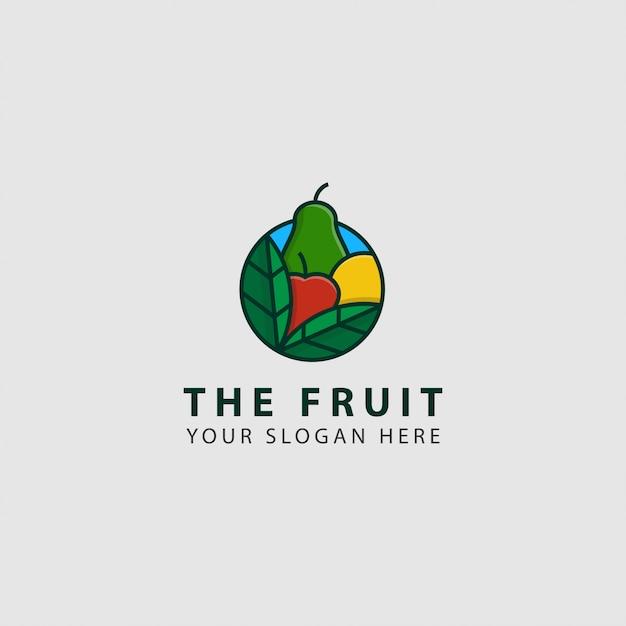 Logo de frutas Vetor Premium