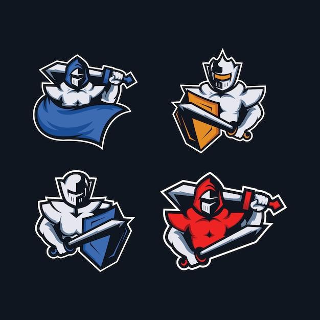Logo de jogo de mascote ninja para a equipe esport Vetor Premium