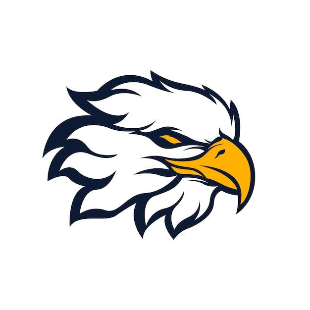 Logo de mascote de esporte de águia Vetor Premium