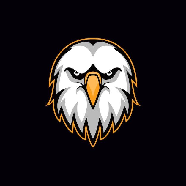 Logo de vetor de cabeça de ilustração de águia Vetor Premium