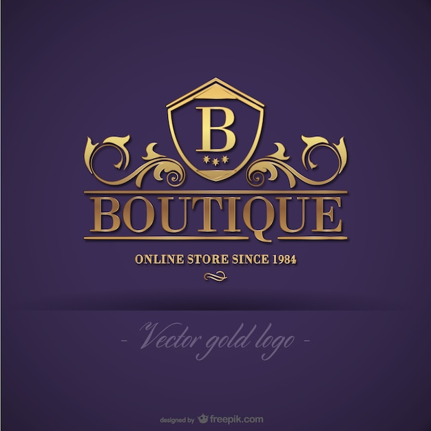 Logo design boutique ouro baixar vetores gratis for Clothing logo design software
