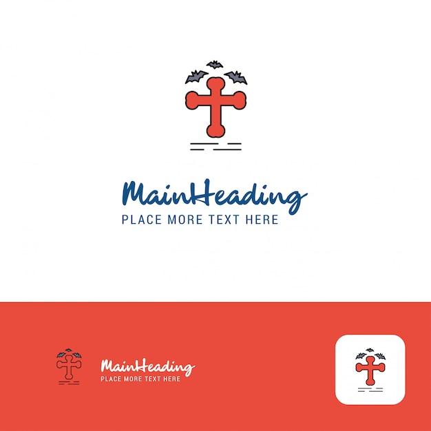Logo design grave criativo Vetor grátis