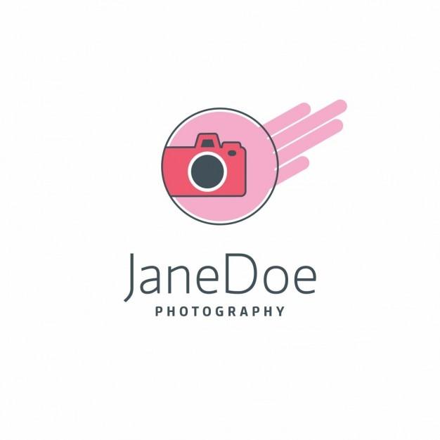 Logo fotografia rosa jane doe Vetor grátis
