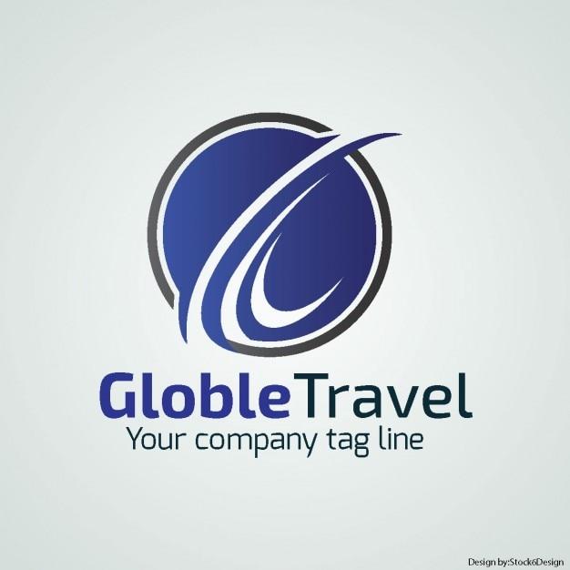 Logo glob Vetor grátis