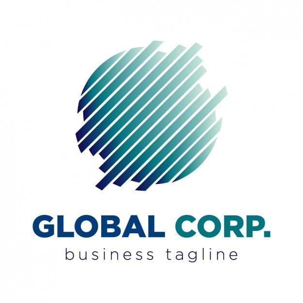 Logo global corporação Vetor grátis