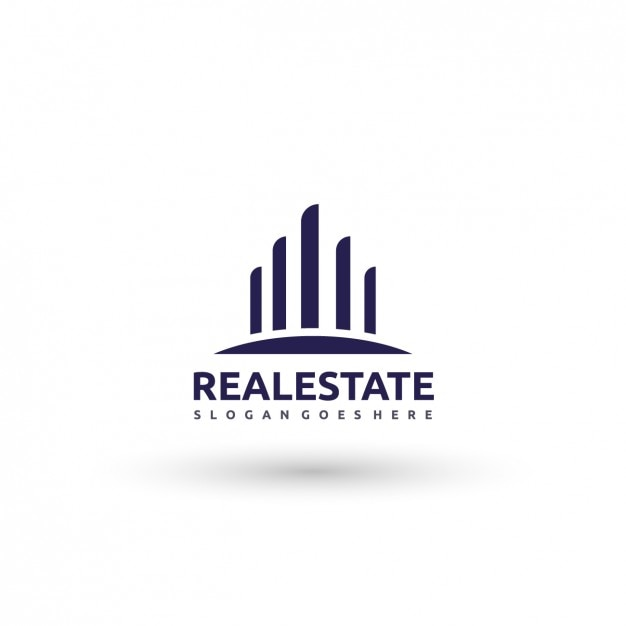 Logo imóveis Vetor grátis