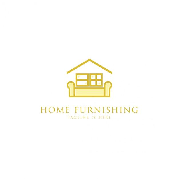 Logo mobiliário doméstico Vetor Premium