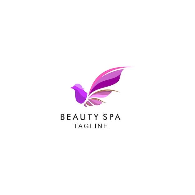 Logo moderno do spa de beleza Vetor Premium
