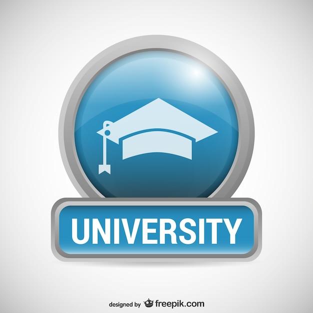 Logo universidade com mortarboard Vetor grátis
