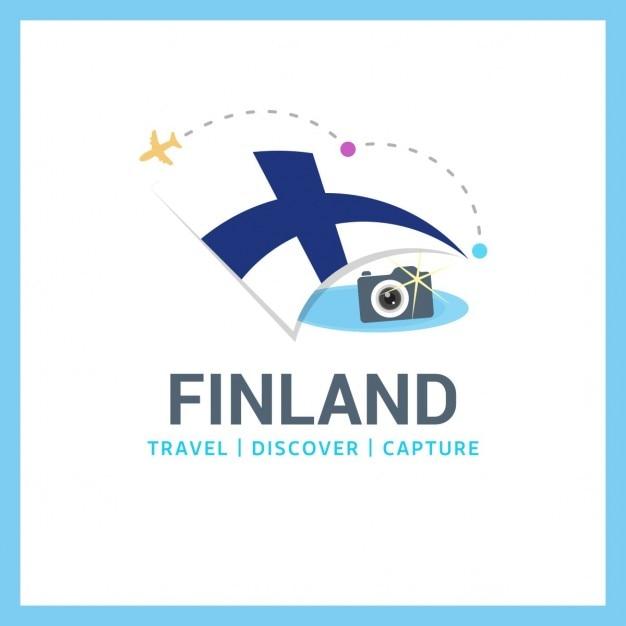 Logo viagem finlândia Vetor grátis