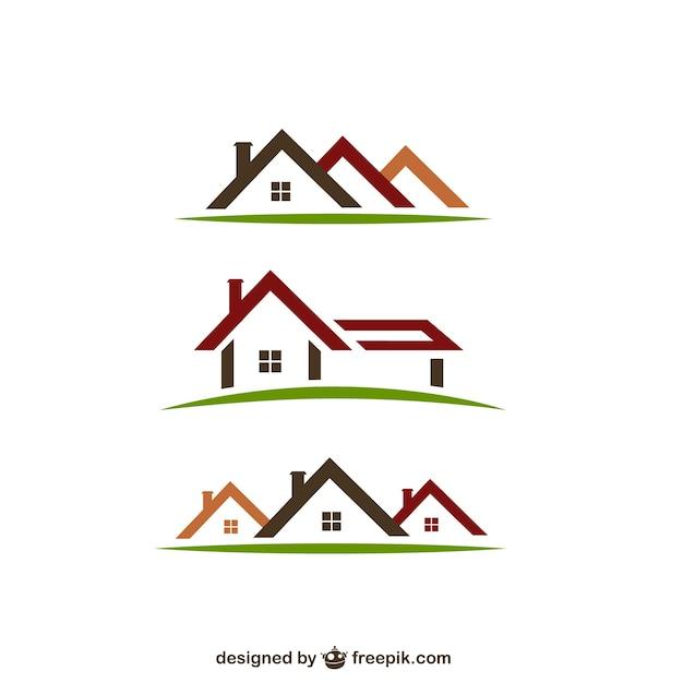 Logos de imóveis Vetor grátis