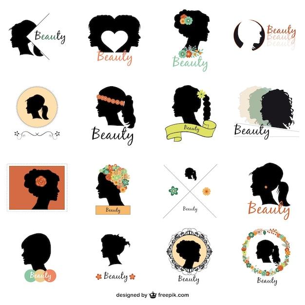 Logos de moda definido Vetor grátis