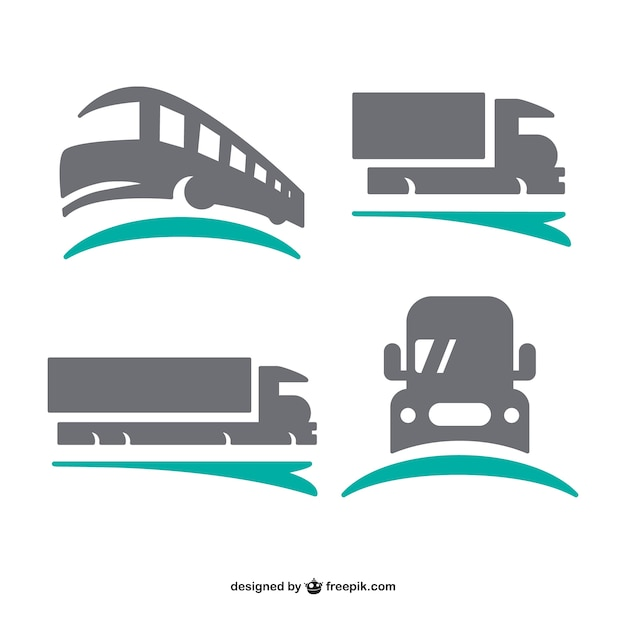 Logos de transporte definido Vetor grátis