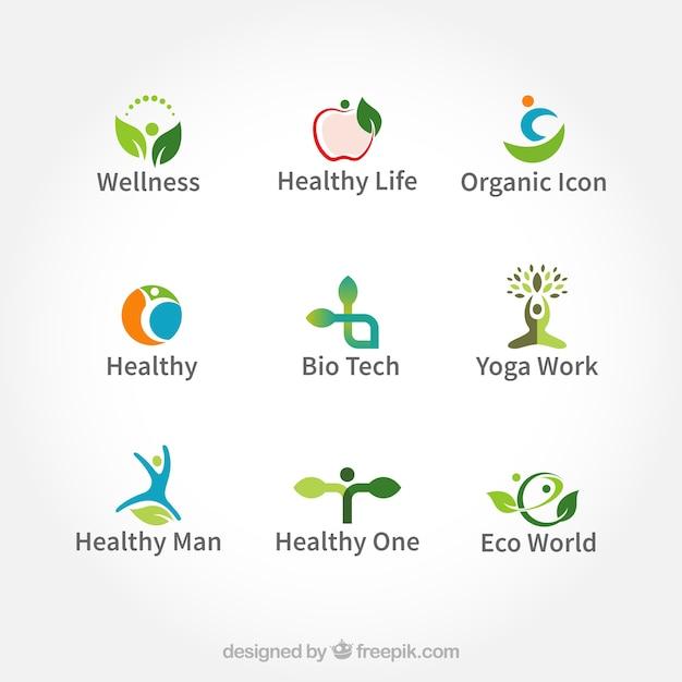 Logos orgânicos Vetor grátis