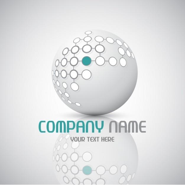 Logotipo abstrato com a esfera Vetor grátis