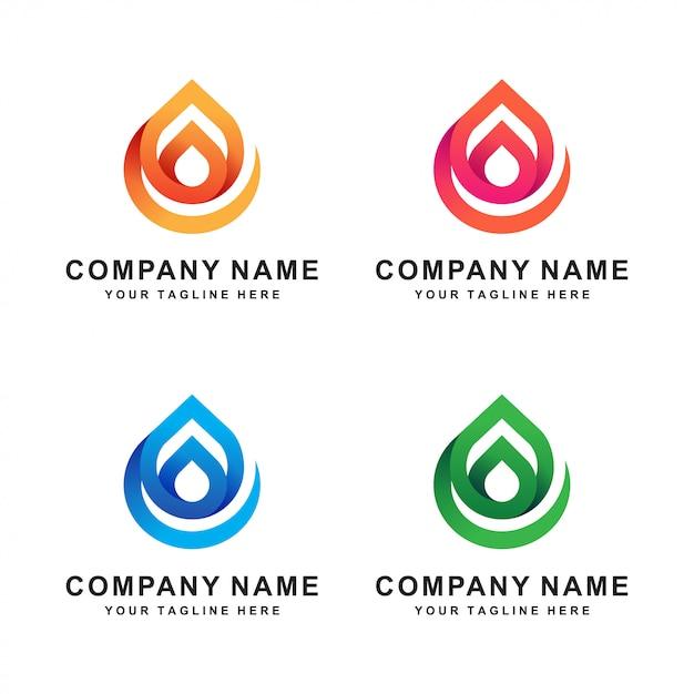 Logotipo abstrato da água Vetor Premium