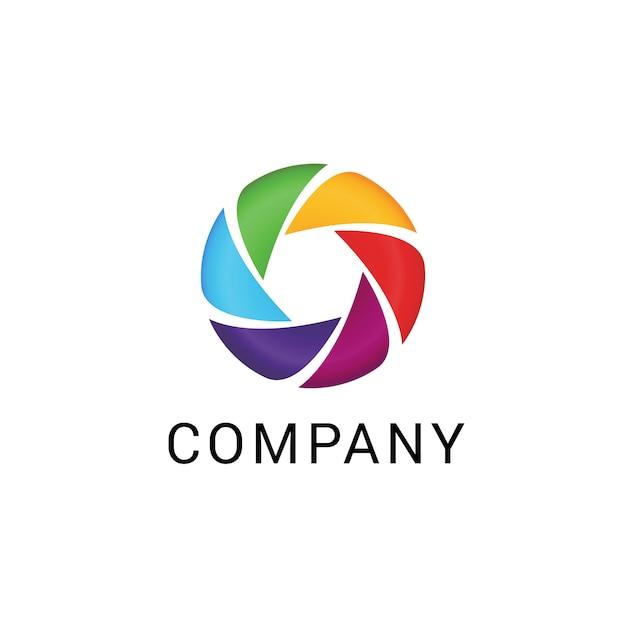 Logotipo abstrato de negócios Vetor Premium