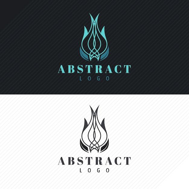 Logotipo abstrato em duas versões Vetor Premium