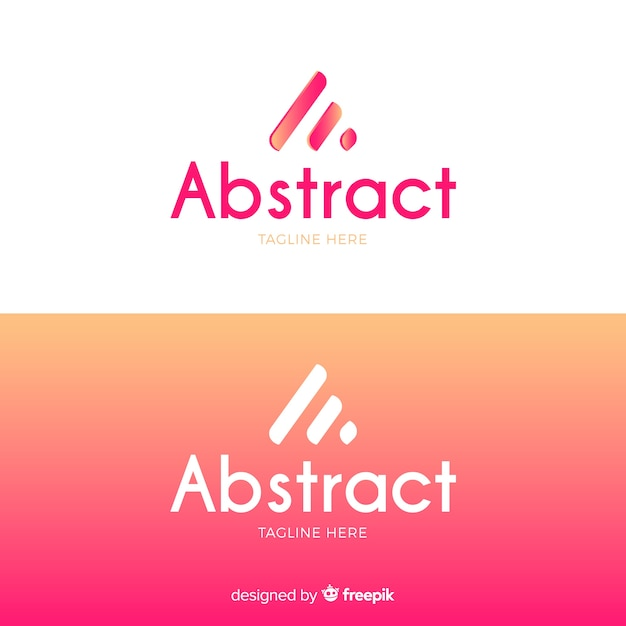 Logotipo abstrato em estilo gradiente Vetor grátis