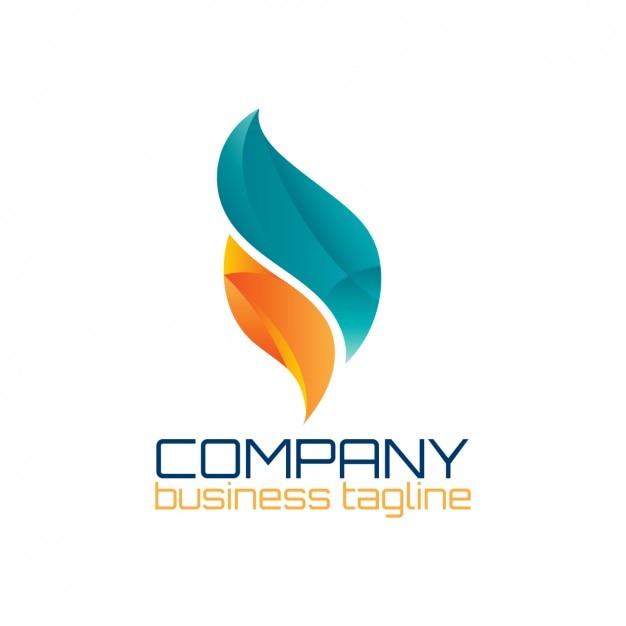 Logotipo abstrato em forma de chama Vetor grátis